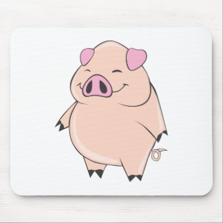 Cute Fat Pig Mousepads