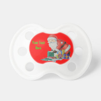 Cute father christmas toys stripy stocking gifts pacifiers