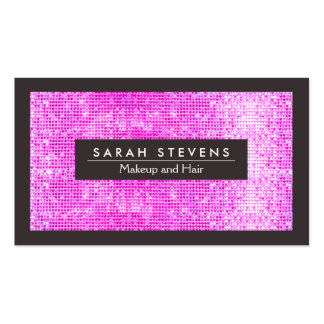 Cute Faux Hot Pink Sequins Beauty and Fashion Pack Of Standard Business Cards
