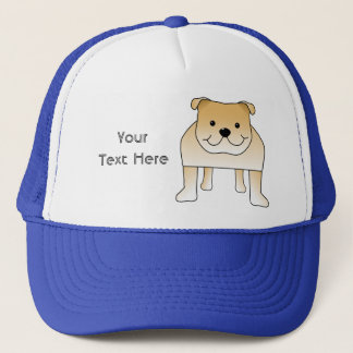 Cute Fawn Bulldog Cartoon Trucker Hat