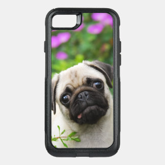 Cute Fawn Colored Pug Puppy Dog Animal - on OtterBox Commuter iPhone 8/7 Case