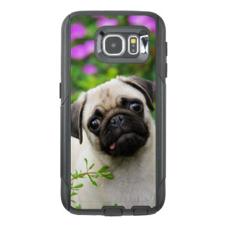 Cute Fawn Colored Pug Puppy Dog -- on Commutercase OtterBox Samsung Galaxy S6 Case