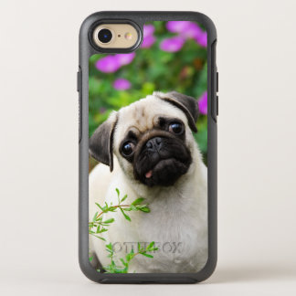 Cute Fawn Colored Pug Puppy Dog -Phoneprotection OtterBox Symmetry iPhone 8/7 Case