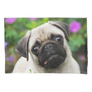 Cute Fawn Colored Pug Puppy Dog - Pillow-Cover Pillowcase