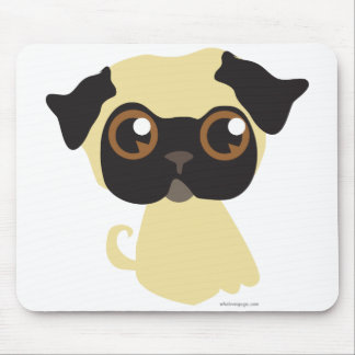 Cute Fawn Pug Mouse Pad