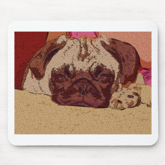 Cute Fawn Pug Puppy Mouse Pad