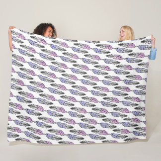 Cute Feathers Pattern fleece blankets