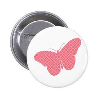 Cute feminine butterfly 6 cm round badge