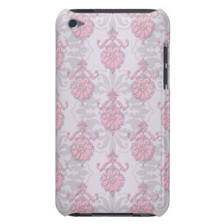 Cute Feminine Girly Pink Damask Barely There iPod Cover