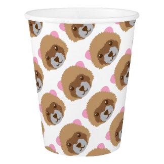 cute ferret face paper cup