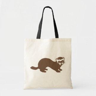 Cute Ferret Graphic Tote Bag