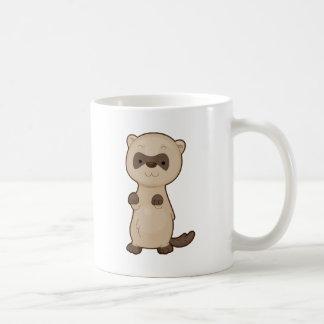 Cute Ferret Basic White Mug