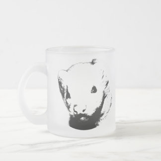 Cute Ferret Picture Frosted Glass Mug