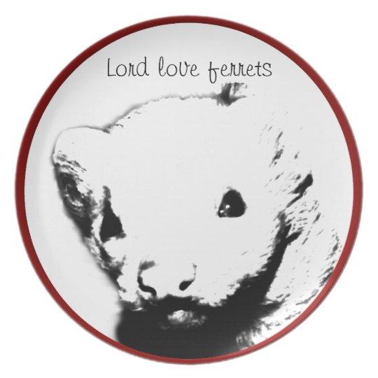 Cute Ferret Picture Plate