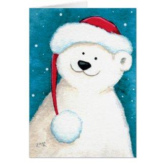 Cute Festive Polar Bear Christmas Card