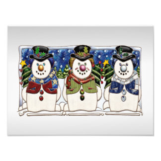 Cute Festive Snowmen Photo