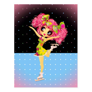 Cute Figure Skater Iceskating girl personalized Postcard