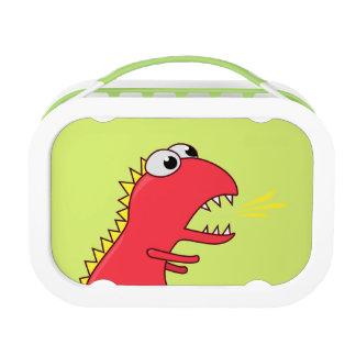 Cute Fire Breath Cartoon T-Rex Dinosaur Lunch Box