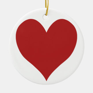 Cute Fire Brick Heart Christmas Ornament