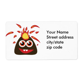 Cute Fire Monster Shipping Label