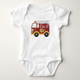 Cute Fire Truck Kids Birthday Personalized T-shirts