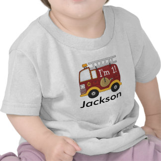 Cute Fire Truck Kids Birthday Personalized T-shirt