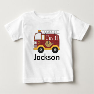 Cute Fire Truck Kids Birthday Personalized Tees