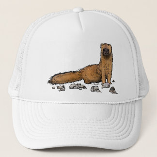 Cute Fire Weasel Trucker Hat