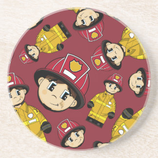 Cute Firefighter Coaster