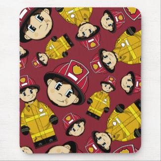 Cute Firefighter Mousepad