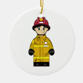 Cute Firefighter Ornament