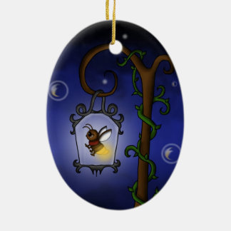 cute Firefly Ceramic Oval Decoration