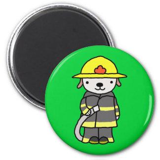 Cute Fireman Fire Woman Puppy Dog Fridge Magnet Fridge Magnets