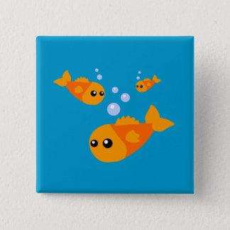Cute Fish 15 Cm Square Badge