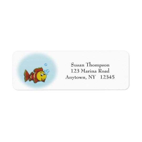 Cute Fish Address Label