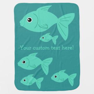 Cute Fish custom baby blanket