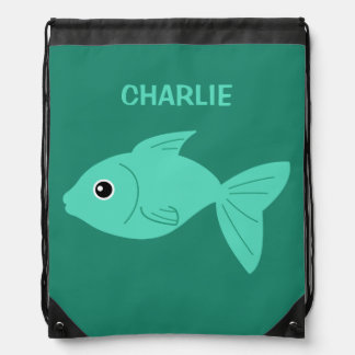 Cute Fish custom backpack
