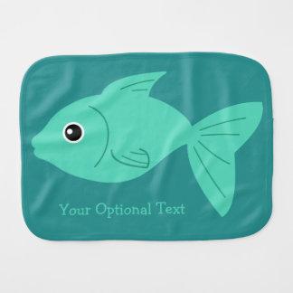 Cute Fish custom burp cloth