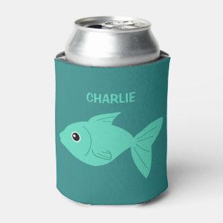 Cute Fish custom can cooler