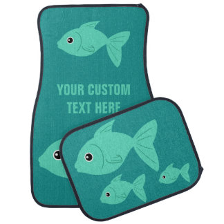 Cute Fish custom car floor mats