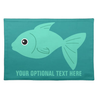 Cute Fish custom cloth placemats