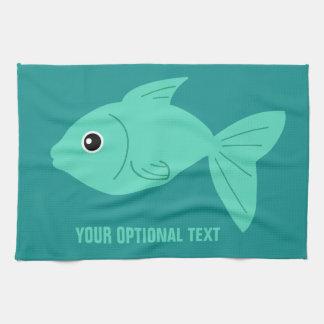 Cute Fish custom hand towel