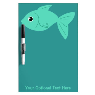 Cute Fish custom message board Dry Erase Whiteboards