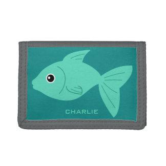 Cute Fish custom monogram wallets