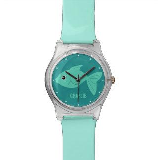 Cute Fish custom monogram watches