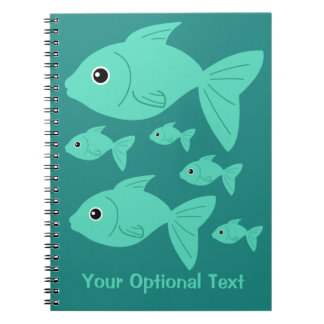Cute Fish custom notebook