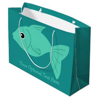 Cute Fish custom text gift bag