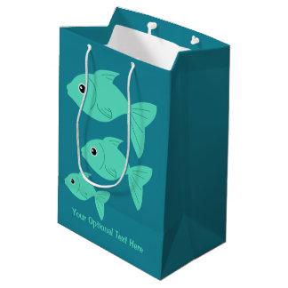 Cute Fish custom text gift bags