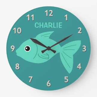 Cute Fish custom wall clock