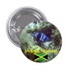 Cute Fish,  Indigo Hamlet, Jamaica 3 Cm Round Badge